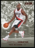 2008/09 Upper Deck SkyBox Ruby #136 Martell Webster /50