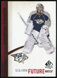 2010/11 Upper Deck SP Authentic #212 Mark Dekanich RC /999