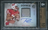 2012 SP Authentic #272 Russell Wilson Rookie Patch Auto #634/885 BGS 9.5