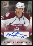 2010/11 Upper Deck Signature Sensations #SSHE Matt Hendricks Autograph