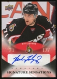 2010/11 Upper Deck Signature Sensations #SSNF Nick Foligno Autograph