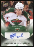 2010/11 Upper Deck Signature Sensations #SSSH James Sheppard Autograph