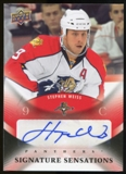 2010/11 Upper Deck Signature Sensations #SSSW Stephen Weiss Autograph