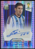 2014 Panini Prizm World Cup Soccer Lionel Messi Refractor Autograph Serial #15/25 !