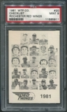 1981 Rochester Red Wings WTF #20 Team Photo Checklist PSA 9 (MINT) *5911