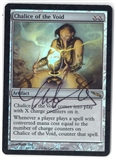 Magic the Gathering Mirrodin SIGNED BY ARTIST Single Chalice of the Void FOIL - MODERATE PLAY (MP)