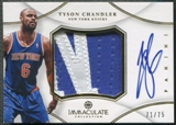 2012/13 Immaculate Collection #TC Tyson Chandler Jumbo Patch Auto #71/75