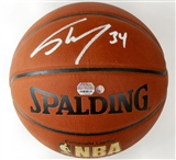 Shaquille O'Neal Autographed Los Angeles Lakers Spalding Basketball (Mounted Memories)