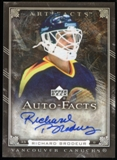 2006/07 Upper Deck Artifacts Autofacts #AFRI Richard Brodeur Autograph