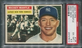 1956 Topps Baseball #135 Mickey Mantle Gray Back PSA 6.5 (EX-MT+) *7810