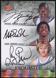 2012/13 Exquisite Collection Endorsements Triple Gold Spectrum Michael Jordan/Magic Johnson/Larry Bird 1/1