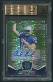 2012 Topps Finest #FMAAL Andrew Luck Moments Pulsar Refractor Rookie Auto #09/10 BGS 9.5