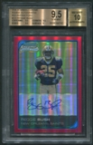 2006 Bowman Chrome #223 Reggie Bush Rookie Red Refractor Auto #5/5 BGS 9.5