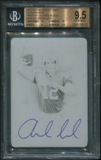 2012 Prime Signatures #243 Andrew Luck Rookie Printing Plate Black Auto #1/1 BGS 9.5