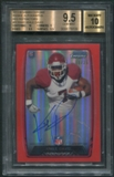 2013 Bowman Chrome #RCRAKD Knile Davis Rookie Red Refractor Auto #08/25 BGS 9.5