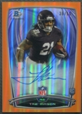 2014 Bowman Chrome #37 Tre Mason Rookie College Orange Refractor Auto #36/50