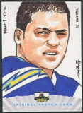 2013 Super Box Football Manti Te'o Rookie Sketch #1/1