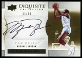 2012/13 Upper Deck Exquisite Collection Autographs #MI Michael Jordan 11/99