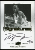2013 Upper Deck All-Time Greats Signatures #ATGMJ17 Michael Jordan 5/45