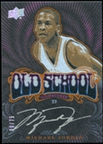 2012/13 Upper Deck Exquisite Collection UD Black Old School Autographs #MJ Michael Jordan 8/75
