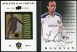 2012 Upper Deck All-Time Greats Athletes of the Century Booklet Landon Donovan 12/25