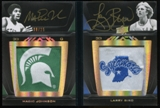 2011/12 Upper Deck Exquisite Collection UD Black Dual Patch Autographs #LP2ML Magic John