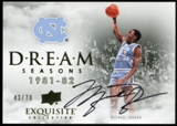 2012/13 Upper Deck Exquisite Collection Dream Seasons Autographs #MI Michael Jordan 1981-82 43/70