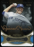 2014 Topps Tier One Acetate Autographs Bronze Ink #TOAMR Mariano Rivera 2/25