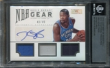 2012/13 Panini National Treasures NBA Gear Trios Signatures #4 Kevin Durant 43/49