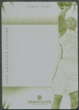 2013/14 Panini National Treasures #11 Chris Paul 2012/13 Immaculate Yellow Printing Plate #1/1