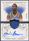 2013/14 Panini National Treasures #37 Harrison Barnes Jersey Auto #03/99
