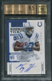 2012 Panini Contenders #186B T.Y. Hilton Rookie Auto SP /50 BGS 9.5