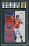 2012 Panini Contenders #207B Brock Osweiler Orange Jersey Rookie Auto BGS 9