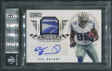2012 Panini National Treasures #26 Dez Bryant Reebok Logo Patch Auto #1/1 BGS 9