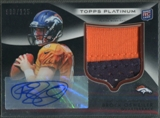 2012 Topps Platinum #101 Brock Osweiler Black Refractor Rookie Patch Auto #098/125