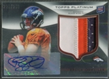 2012 Topps Platinum #101 Brock Osweiler Refractor Rookie Patch Auto #228/250