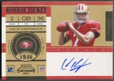 2011 Playoff Contenders #227B Colin Kaepernick No Logo Rookie Auto