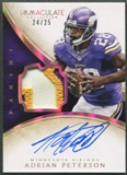 2014 Immaculate Collection #8 Adrian Peterson Veteran Patch Auto #24/25