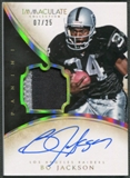 2014 Immaculate Collection #4 Bo Jackson Veteran Patch Auto #07/25