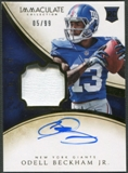 2014 Immaculate Collection #107 Odell Beckham Jr. Rookie Patch Auto #05/99
