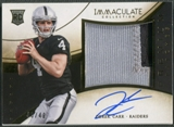 2014 Immaculate Collection #PRDC Derek Carr Rookie Premium Patch Auto #46/49