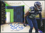 2014 Immaculate Collection #PET Earl Thomas Gold Premium Patch Auto #04/10