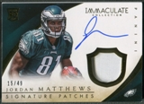 2014 Immaculate Collection #115 Jordan Matthews Rookie Signature Patch Auto #15/49