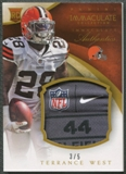 2014 Immaculate Collection #29 Terrance West Rookie Immaculate Authentics Patch Tag #3/5
