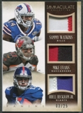 2014 Immaculate Collection #6 Sammy Watkins Mike Evans Odell Beckham Jr. Rookie Trios Patch #03/25