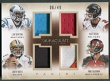 2014 Immaculate Collection #32 Cam Newton Drew Brees Matt Ryan Mike Glennon Quad Jersey #06/49