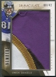 2014 Immaculate Collection #52 Owen Daniels Numbers Jumbo Patch #08/42