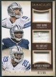 2014 Immaculate Collection #37 DeMarco Murray Dez Bryant Tony Romo Trios Jersey #07/49