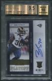 2013 Panini Contenders #192A Zac Stacy Playoff Ticket Rookie Auto #19/99 BGS 9.5