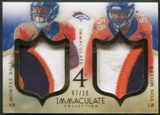 2014 Immaculate Collection #40 Montee Ball Von Miller Wes Welker DeMarcus Ware Immaculate Fours Patch #07/10